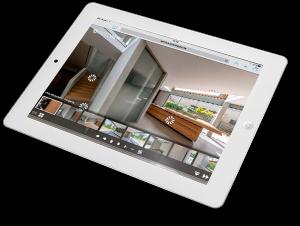 virtuelle 360° Tour Villa auf dem ipad erleben