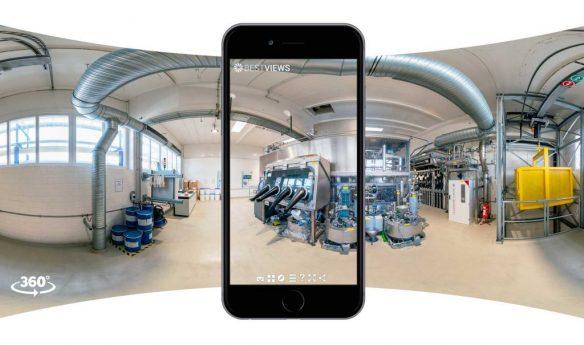 3D Panorama Tour Umicore mit dem Mobile erleben