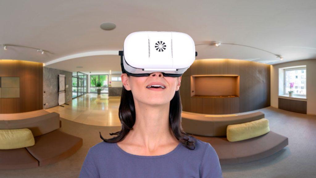 DPMA Messestand virtuell mit der VR Brille erleben