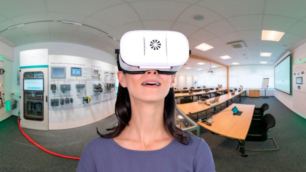 virtueller Campus von Rexel mit der VR Brille erleben.