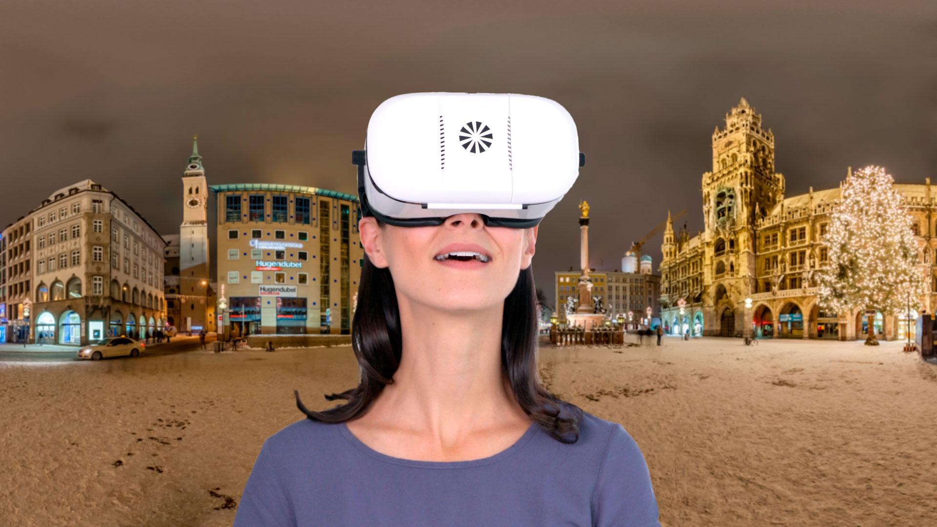 Virtual Reality München mit jeder VR-Brille in 3D erleben.