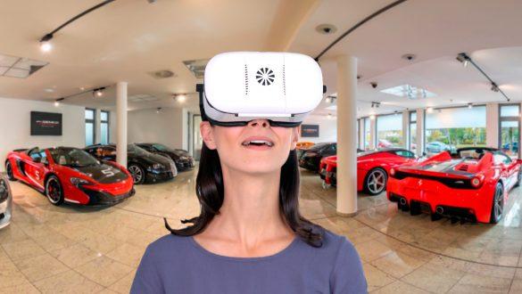 360 Grad Geschäfte mit jeder VR-Brille in 3D erleben.