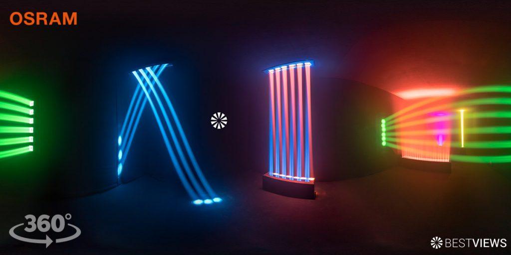 360 Grad Experience Siegerprojekt LiO (Osram Light Art Award) virtueller Rundgang