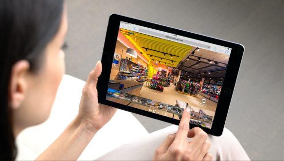 virtuelle 360 Grad Geschäfte mit dem Tablet live erleben