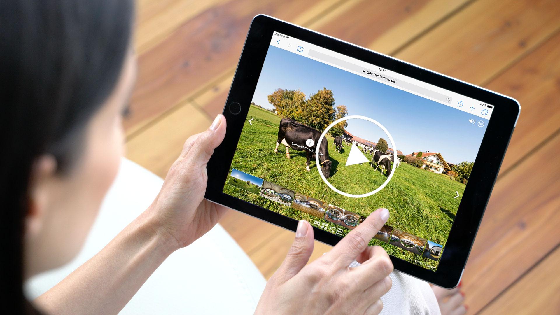 virtuelles 360 Grad Video mit dem Tablet live erleben