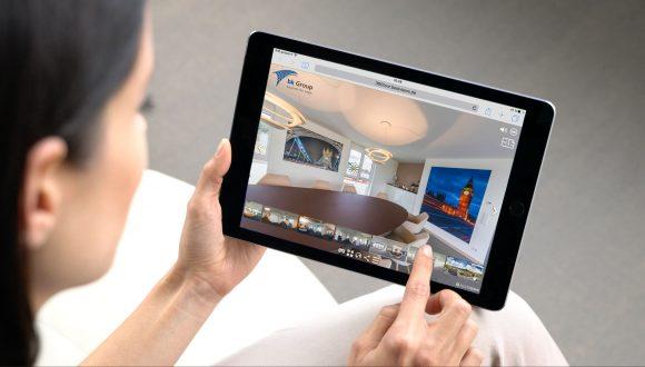 virtuelle 360 Grad Unternehmen mit dem Tablet live erleben