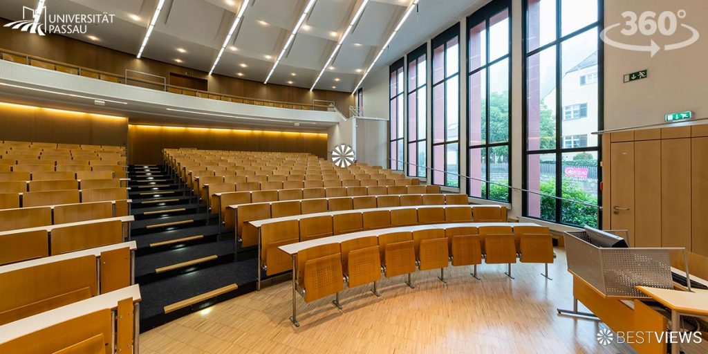 virtueller Campus Rundgang der Uni Passau in 360 erleben