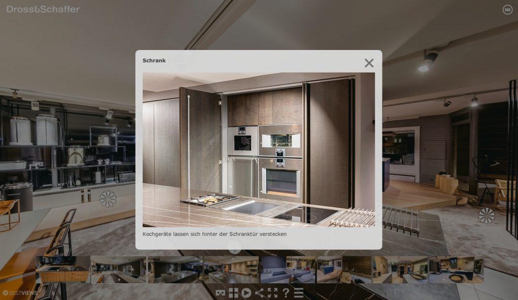 Hochwertige Detailbilder im Pop-up Fenster