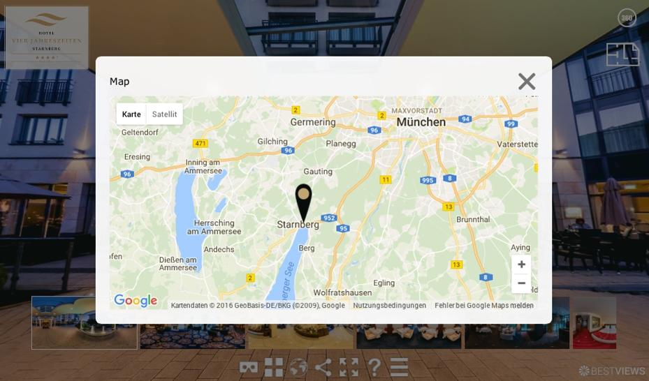 Integrierte Google Maps Kartenansicht