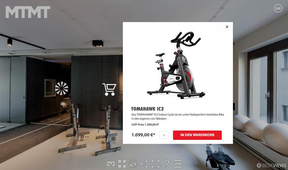Shopanbindung im 360° Rundgang