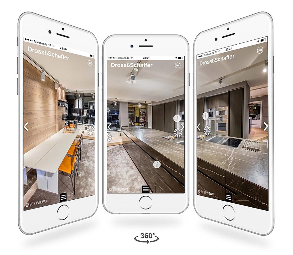 Iphone Darstellung 360 Grad Küchen von Dross&Schaffer