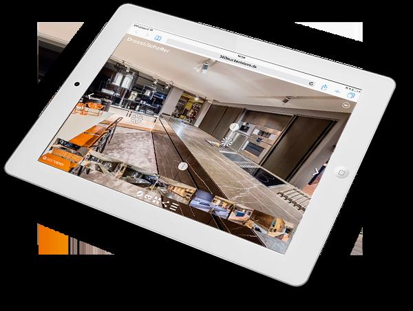 iPad Darstellung 360 Grad Küchen von Dross&Schaffer