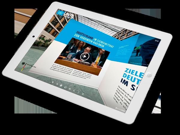virtuelle Ausstellung - 75 Jahre Vereinte Nationen iPad