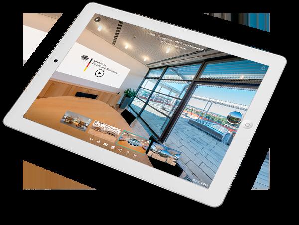 DPMA Messestand virtuell mit dem Ipad erleben