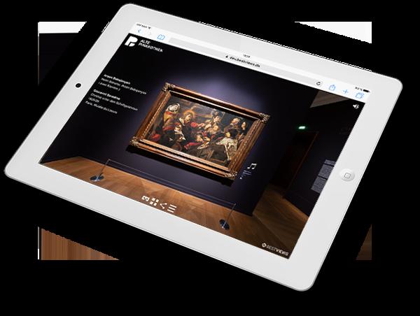 virtueller 360 Grad Ausstellungsrundgang Caravaggio in der Alten Pinakothek