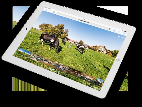 virtueller 360 Grad Bauernhof Rundgang Naturland