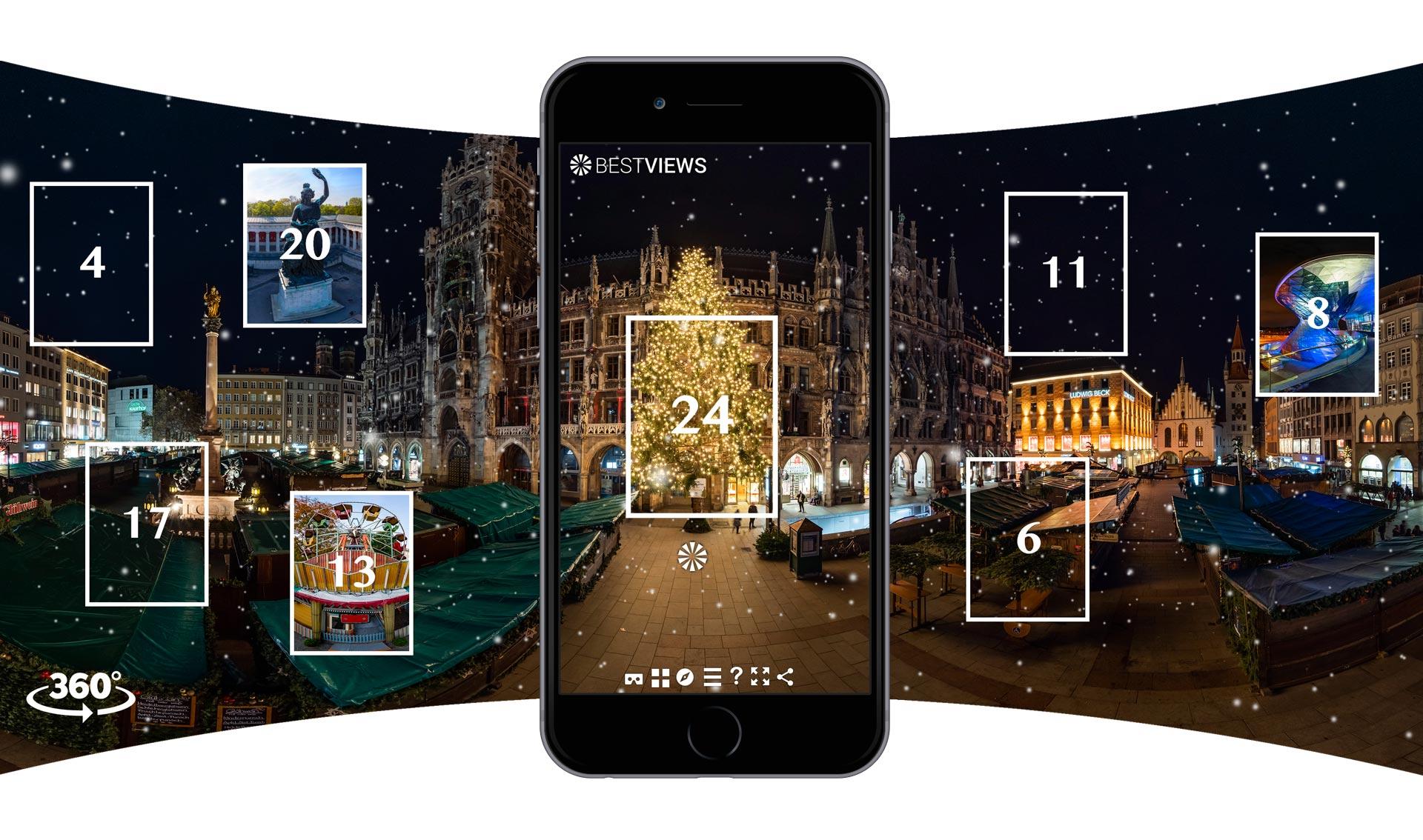 virtueller 360 Grad Adventskalender München