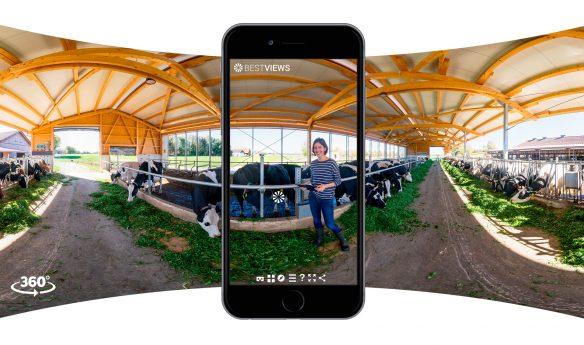 virtueller 360 Grad Bauernhof Rundgang mit dem Smartphone erleben