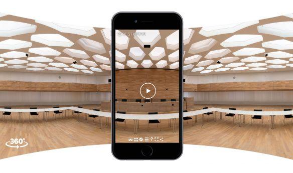 DPMA Messestand virtuell mit dem Mobile Device erleben