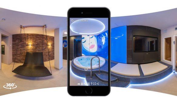 Erleben Sie mit dem Smartphone im 360 Grad Rundgang Spa -und Wellness Erlebnisse der Extraklasse.