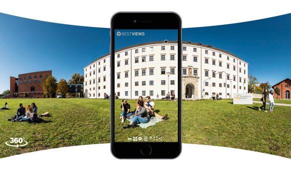 virtueller Campus Rundgang der Uni Passau mit dem Smartphone erleben