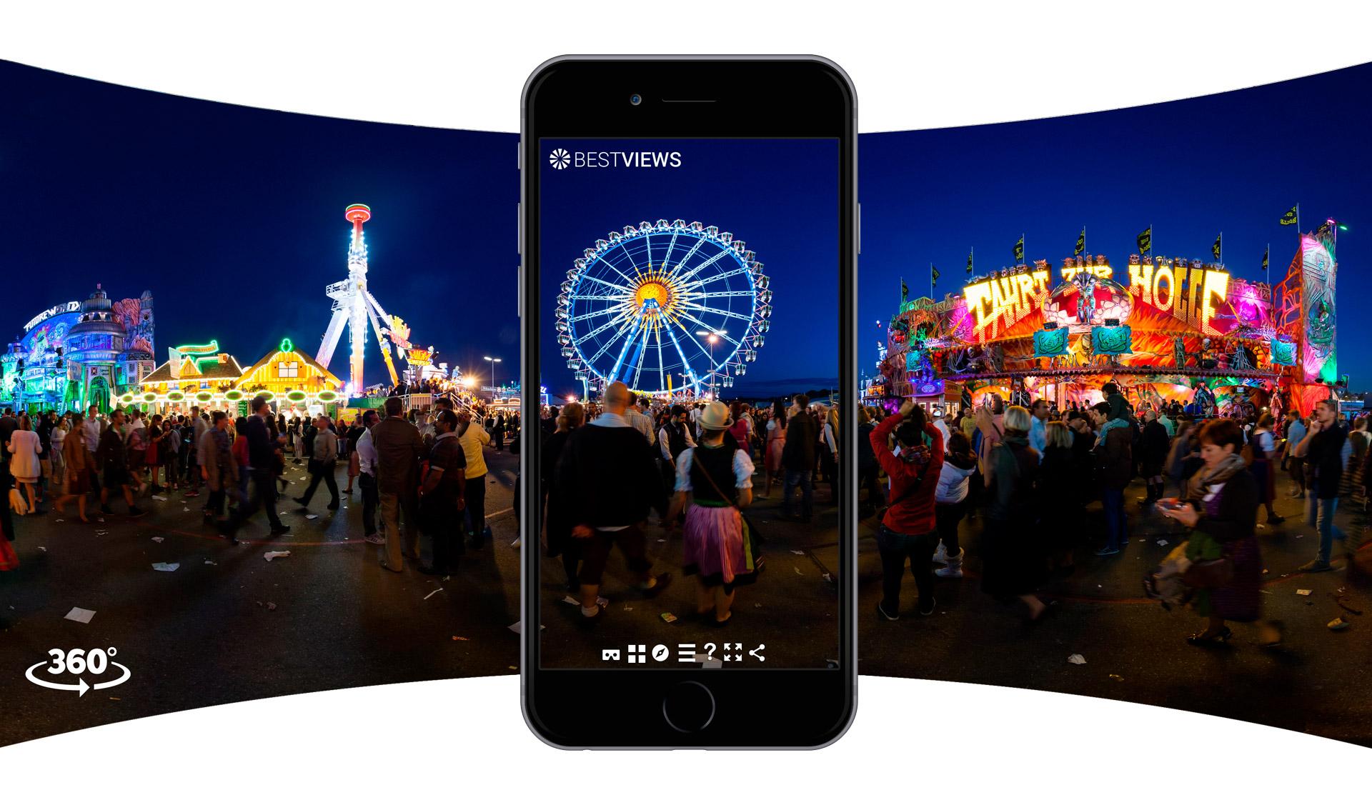 virtuelle 360 Grad Tour Oktoberfest mit dem Smartphone erleben