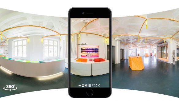 virtuelle Tour in 360 Grad Designerwerkschau mit dem Smartphone erleben