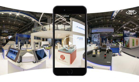 virtueller 360 Grad Messestand Kemper System mit dem Smartphone erleben