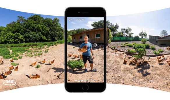 Rundum Öko: Hühner im Öko Naturland Betrieb in 360 Grad mit dem Smartphone erleben!