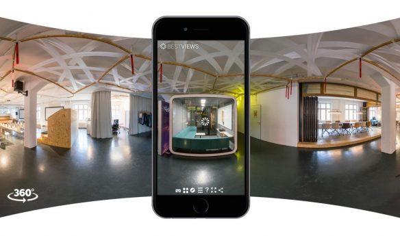 virtueller Showroom - Designerwerkschau in 360 Grad mit dem Smartphone erleben