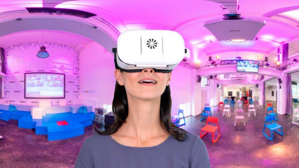 virtuelle Besichtigung WERK1 mit der VR Brille